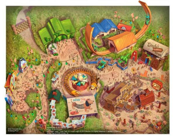 上海迪士尼玩具总动员园区2018年夏季前开放 打造三个全新景点