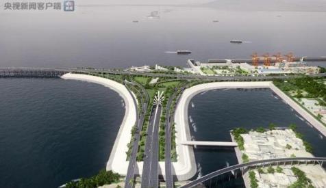 深中通道东人工岛今天开建 为国内首个高速公路水下互通立交