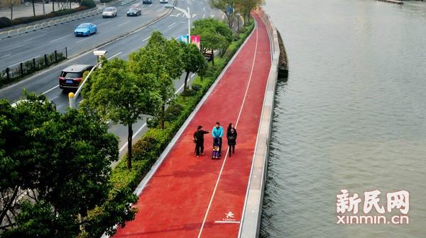 苏州河健身步道一期工程建成  新年元旦将正式开放