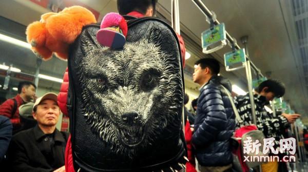 """地铁车厢""""狼""""来了"""