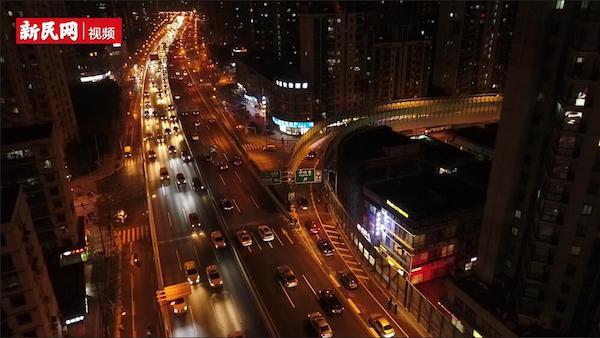 """沪南北高架""""第一弯""""今晚正式通车,航拍镜头带你全景看……"""