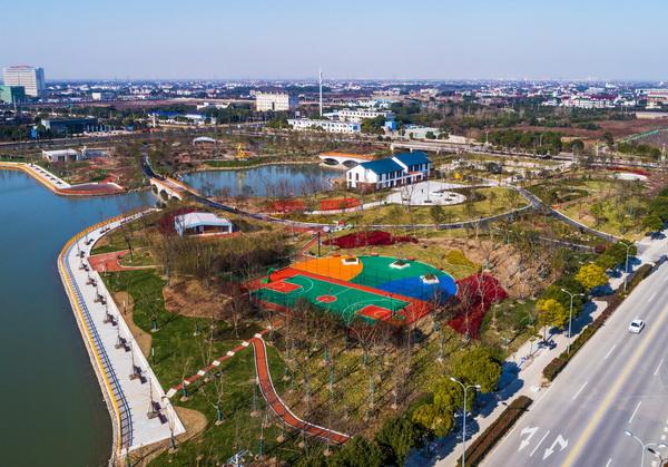 金山新城公园免费开放 市民休闲新去处