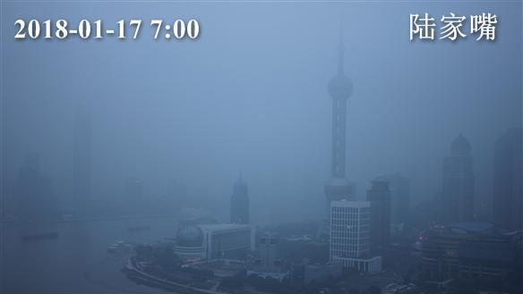 上海今有轻到中度霾 未来5天阴雨天气较多