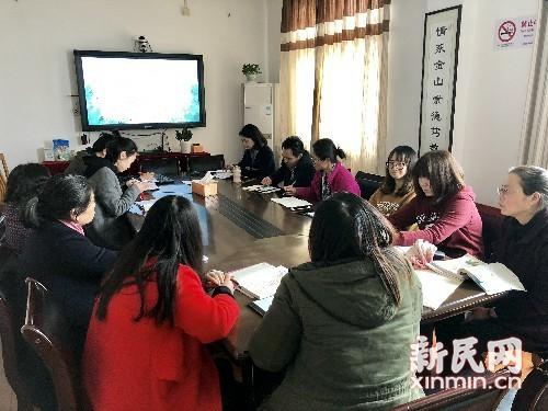 钱圩小学举行新学期第一次语文教研活动