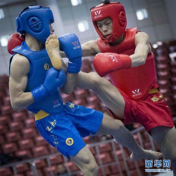 2018年全国男子武术散打锦标赛开赛 沪拳手杨凯晋级16强