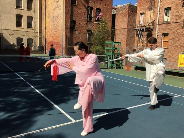 美国三藩市的太极文化传播者:金恒国际武术太极队