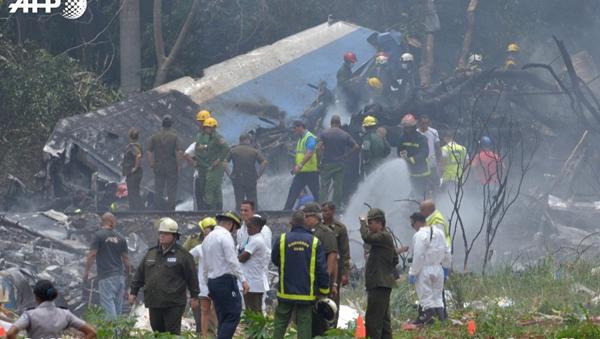 古巴哈瓦那一架载有114人的波音737客机坠毁 百余人遇难