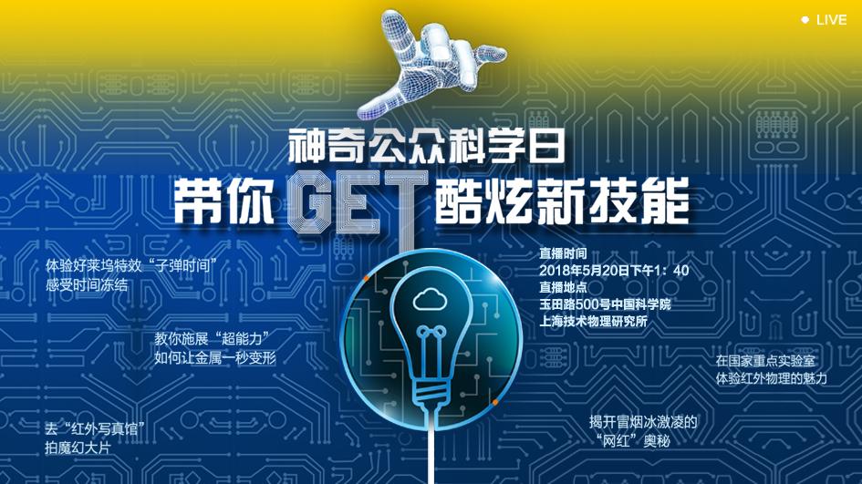 直播回放 | 来中科院上海技术物理所,get科学新技能!