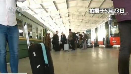 """朝鲜""""弃核""""记者团专列长啥样"""
