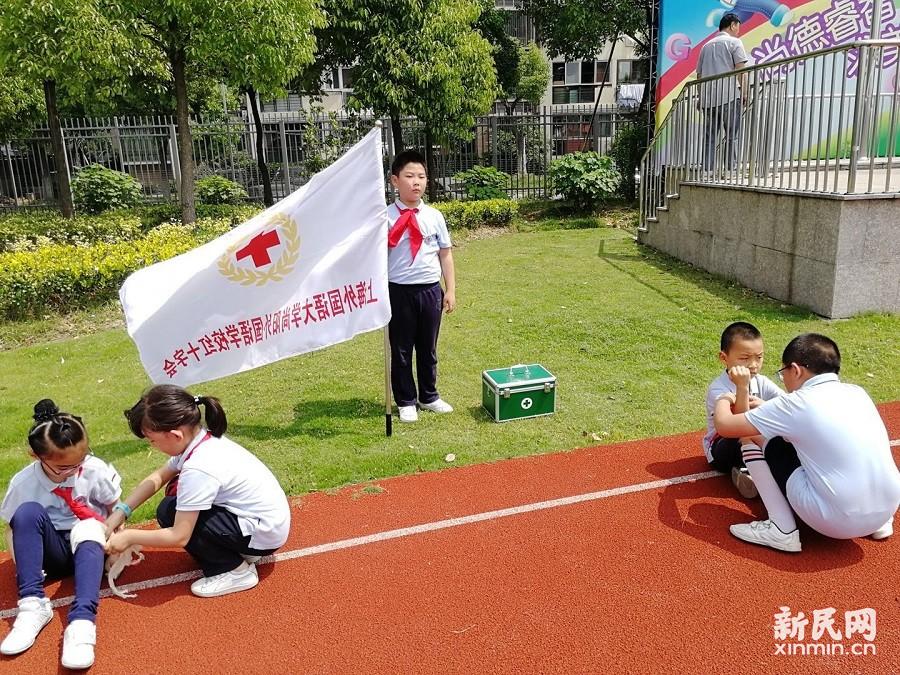 上外尚阳学校举行消防疏散演练活动
