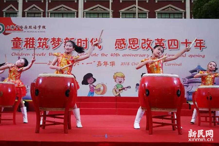 """庆""""六一"""",燎原双语学校展现夜幕中的嘉年华"""