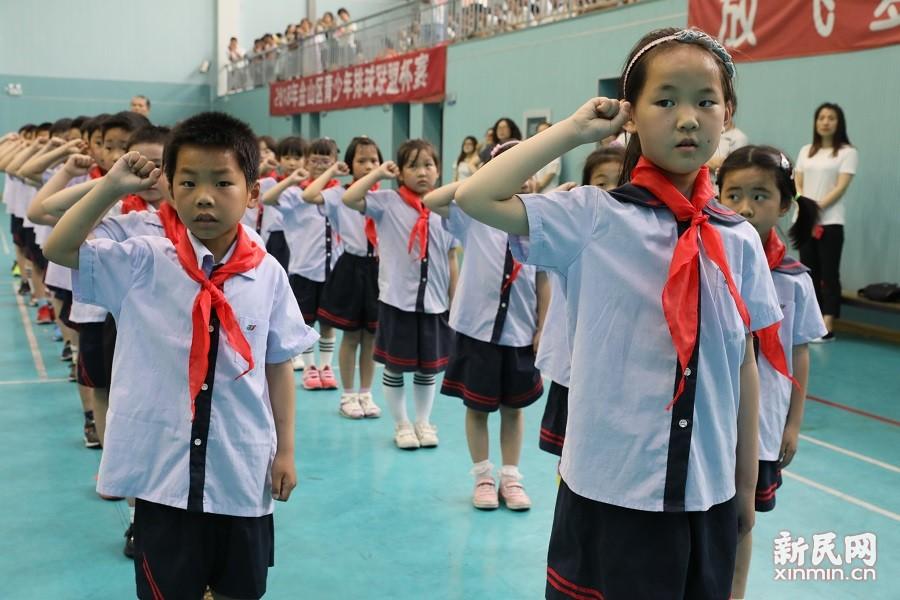 朱泾小学2018年二年级入队仪式暨家长开放日活动举行