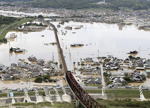日本遭遇30多年来最严重暴雨 已致222人死亡 17人失踪