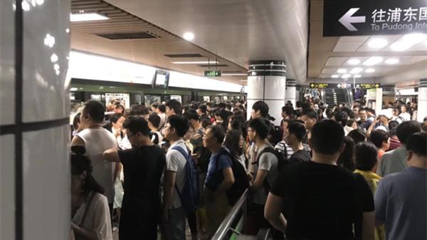 今天早高峰时段上海两条轨交线发生故障