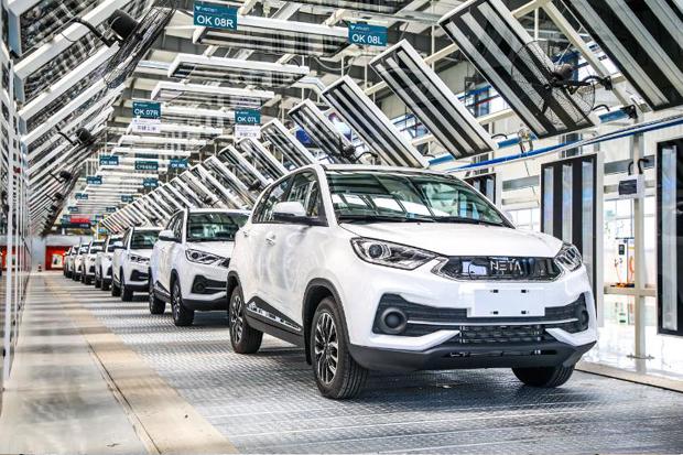 合众新能源量产车哪吒N01正式下线