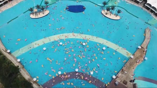 视频  | 炎炎夏日,市民水中找清凉