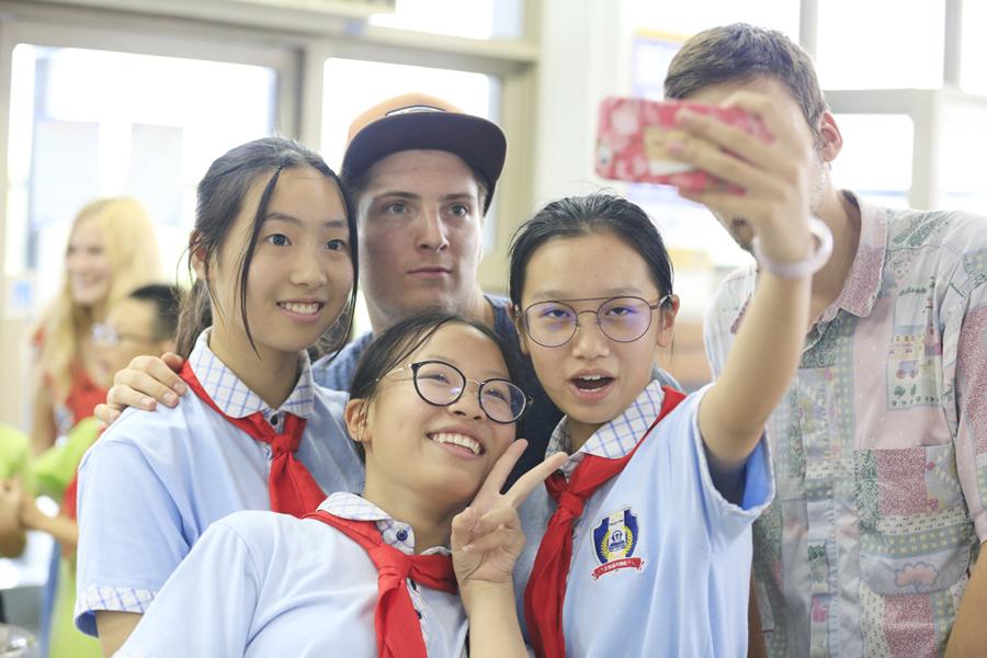 文化交流其乐融融,外籍学生透过松江品中国