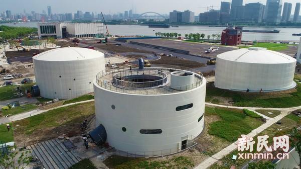 上海油罐艺术中心风采初现 内部别有洞天