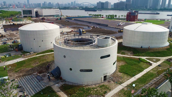 上海油罐艺术中心明年3月正式开幕