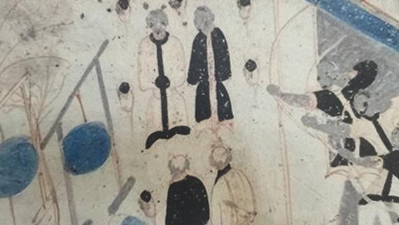 古代人也爱运动健身?去上海中心看敦煌壁画里的体育运动!