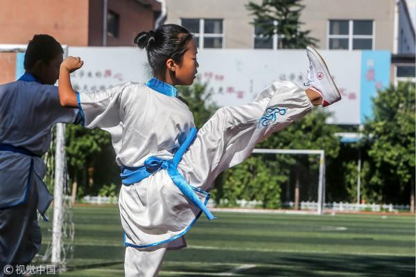 孙瑜:武术健身可帮青少年改变懦弱性格