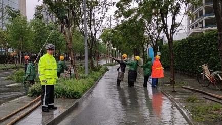 受台风影响 上海部分路段限速 道路积水已清除