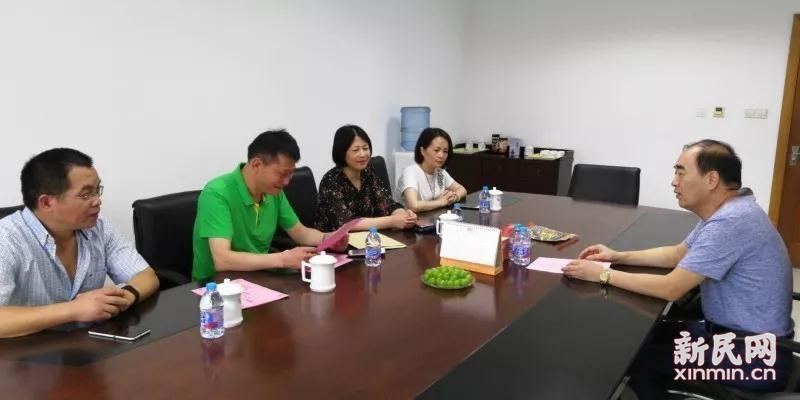 廊下中学校级班子拜会上海宜华实业有限公司