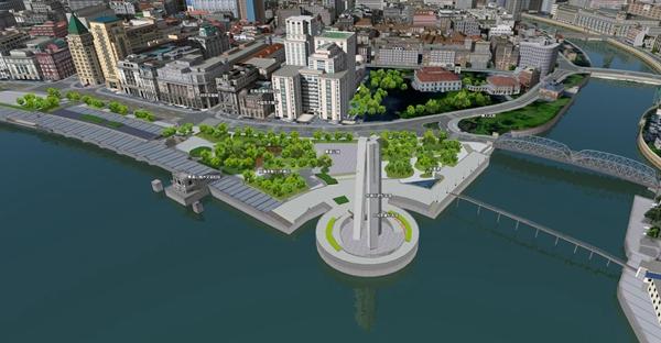 一江一河地图进入3D时代 黄浦江苏州河完整