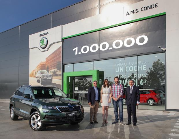 斯柯达第100万辆SUV成功下线交付