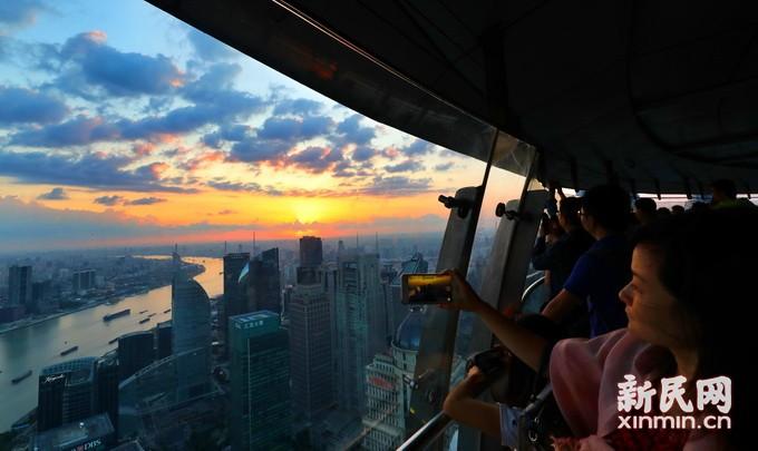 登东方明珠塔,欣赏日出东方美景