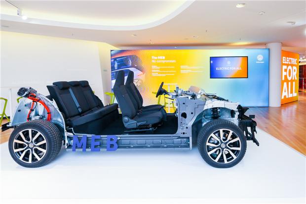 大众汽车MEB模块化电驱动平台全球首发
