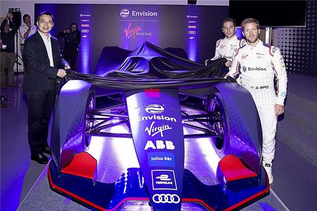 远景维珍车队发布电动方程式新赛季赛车