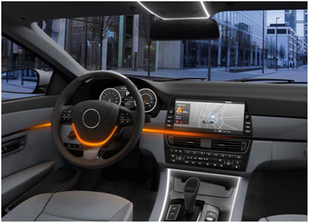 欧司朗智能LED实现汽车内部动态照明