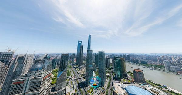上海陆家嘴大像素全景