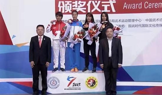 代诗梦勇夺世界杯武术散打比赛女子48kg级冠军