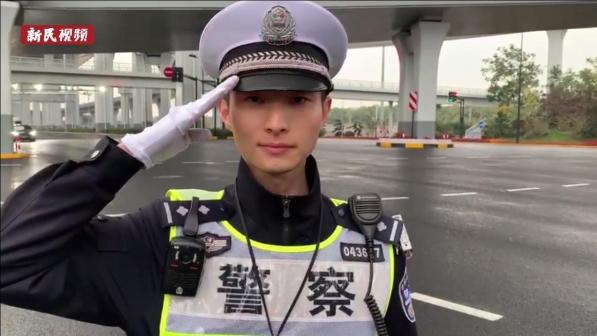 """闵行交警:在""""进博第一哨""""整装待命 职业生涯中的荣耀"""