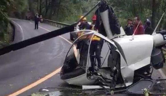 一直升机坠落峨眉山景区,警方:系训练机,一人轻伤