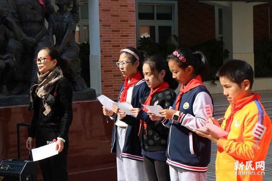 朱泾小学:领巾鲜红我成长 队旗飘飘风采扬