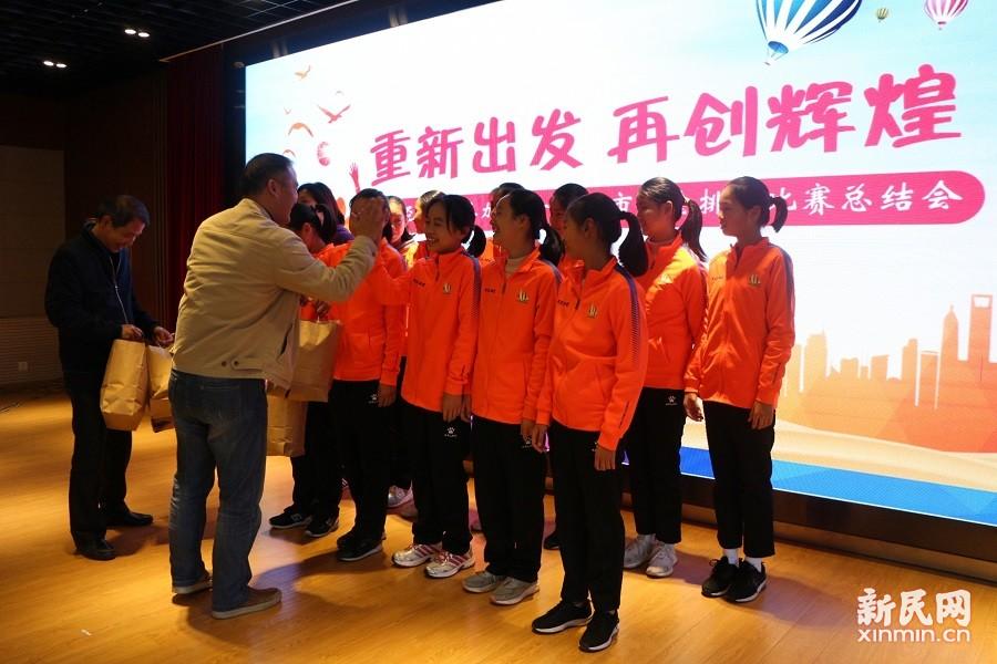 朱泾小学召开参加第十六届上海市运动会排球比赛总结大会