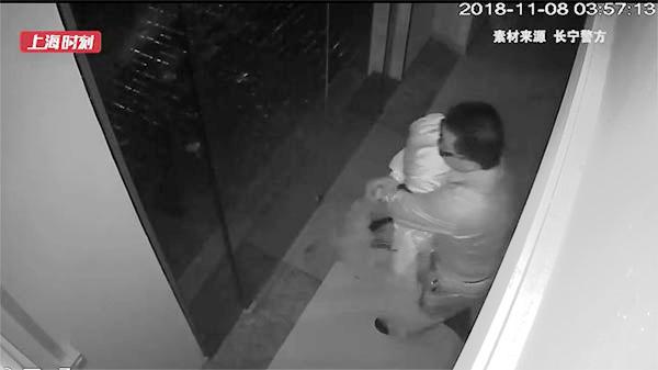 视频 | 男子夜半破门行窃 偷走的竟是……