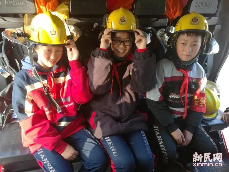 廊下中学:走近消防 了解消防 感悟消防