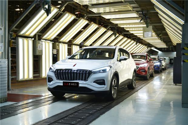 红旗E-HS3纯电动SUV正式启动量产