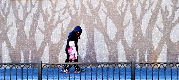 街景营造冬天的童话