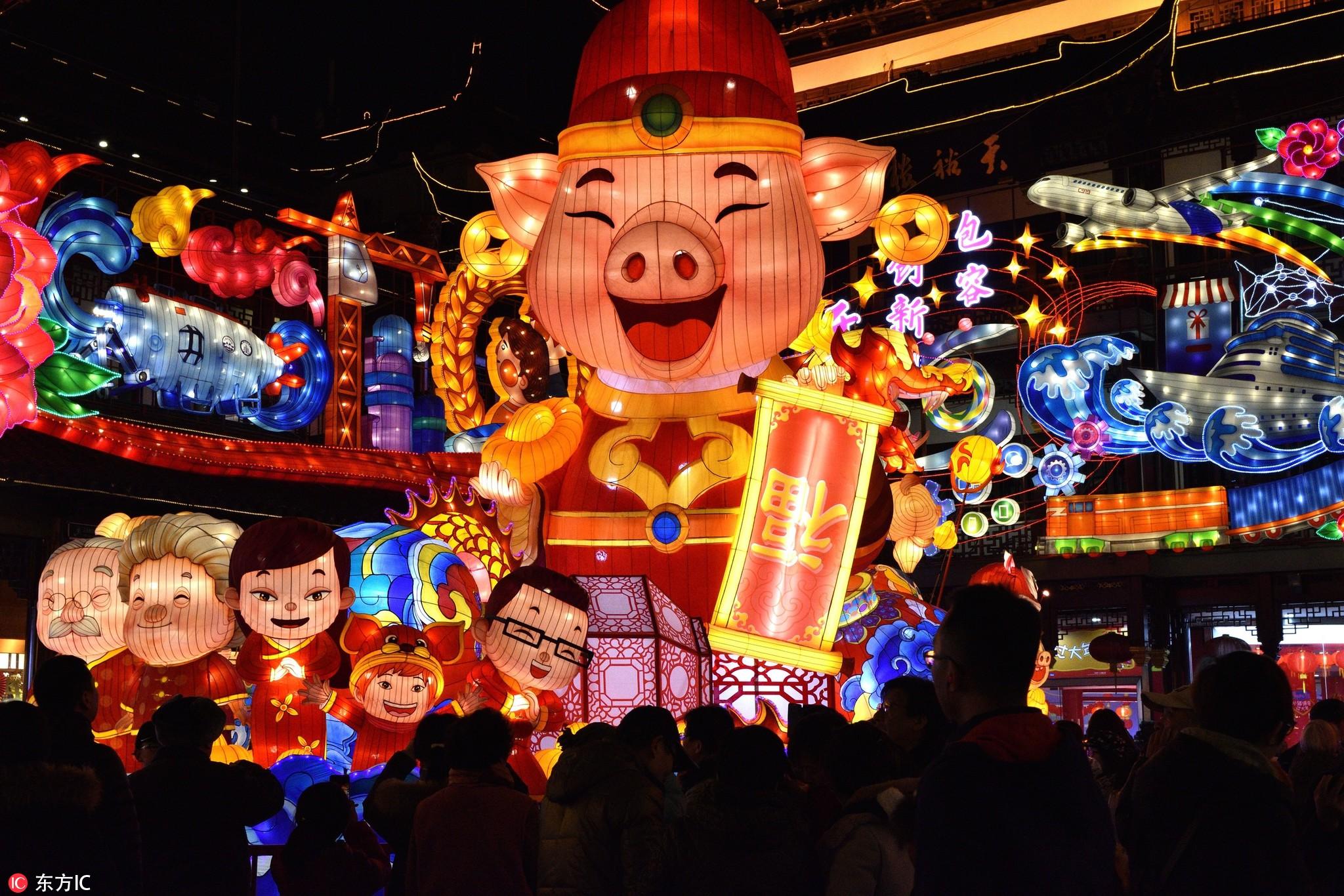 上海豫园灯会震撼开放!大部分时间免费!