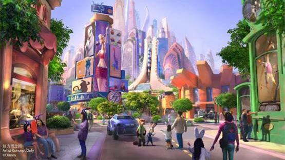 """上海迪士尼度假区宣布全新扩建项目 将新增""""疯狂动物城""""主题园区"""