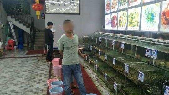 三亚一海鲜店对秤做手脚骗顾客700元 店长员工被拘15天