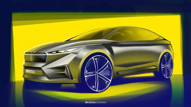 斯柯达VISION iV概念车设计图发布