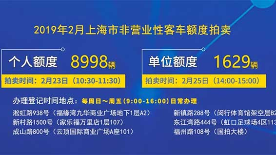 快讯!沪牌新春第一拍下周六举行,警示价88100元
