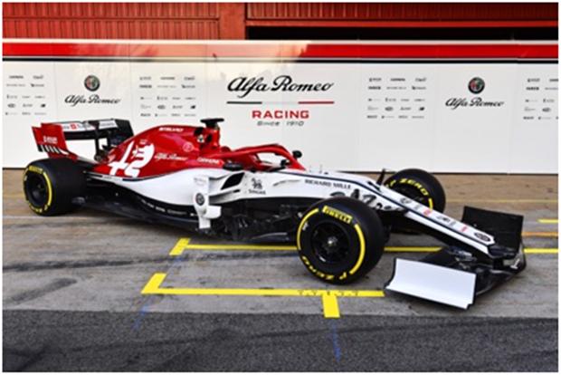 阿尔法·罗密欧竞速f1车队发布全新赛车c38