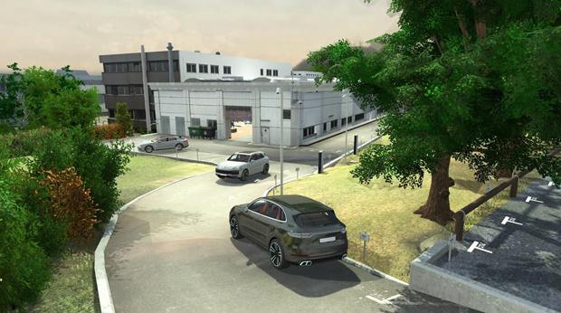 保时捷于工厂车间开启自动驾驶测试